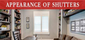 Appearance of Shutters