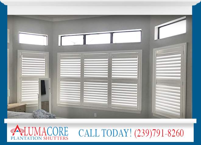 White Plantation Shutters in and near Bonita Springs Florida
