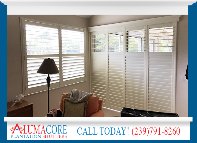 Sliding Glass Door Shutters in and near Naples Florida